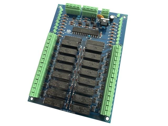 I2C接続16チャンネルリレーボード(SPST接点)DIP版