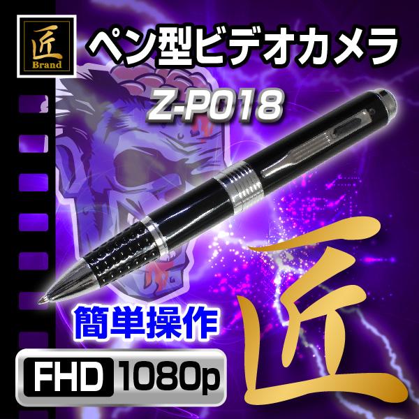 【小型カメラ】ペン型ビデオカメラ(匠ブランド ゾンビシリーズ)『Z-P018』