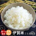 令和元年産 伊賀米コシヒカリ玄米20kg(10kgx2袋)【送料無料】【精米無料】【米ぬか無料】【分づき米対応】TD