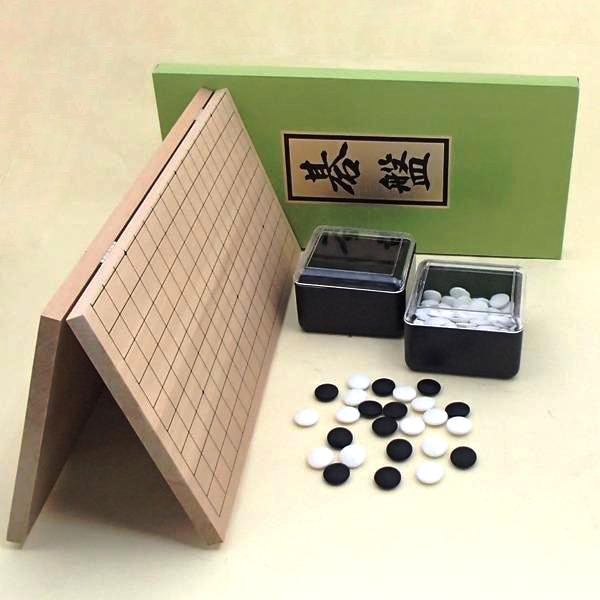 囲碁セット 新桂5号折碁盤と新生梅碁石とP角ケース