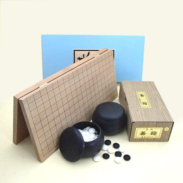 囲碁セット 囲碁ラボイチオシ!新桂6号折碁盤とP碁石碁笥の椿セット