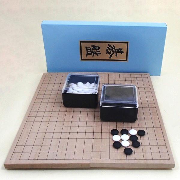 囲碁セット 新桂6号折碁盤とP梅碁石・角ケース