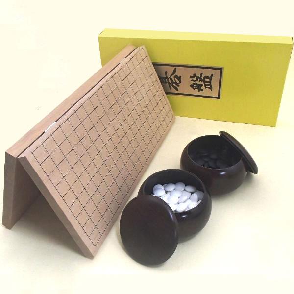 囲碁セット 新桂7号折碁盤に新生竹碁石とP碁笥銘木大 送料無料対象商品