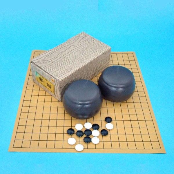 囲碁セット 塩ビの碁盤とプラスチック碁笥碁石普及セット