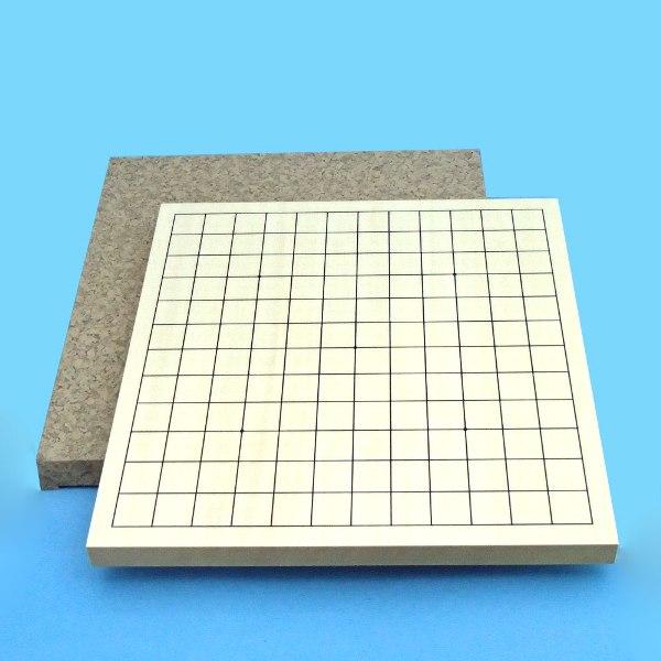 碁盤 ヒバ材9・13路碁盤 (裏面9路碁盤両用盤) 送料無料