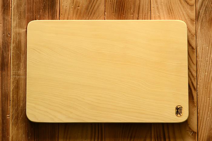 希少な榧の木 本榧のまな板 角丸 大 厚さ2cm(送料無料)