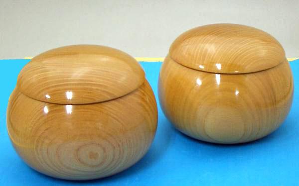 木製碁笥 欅(けやき)生地極上超特大40号