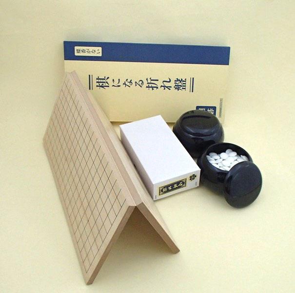 囲碁セット 棋になる折碁盤に新生梅碁石とP黒大碁笥
