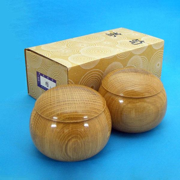 手作木製碁笥 楢(なら)極上 大33号