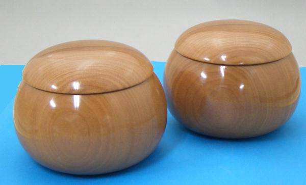 木製碁笥 桜生地超特大38号
