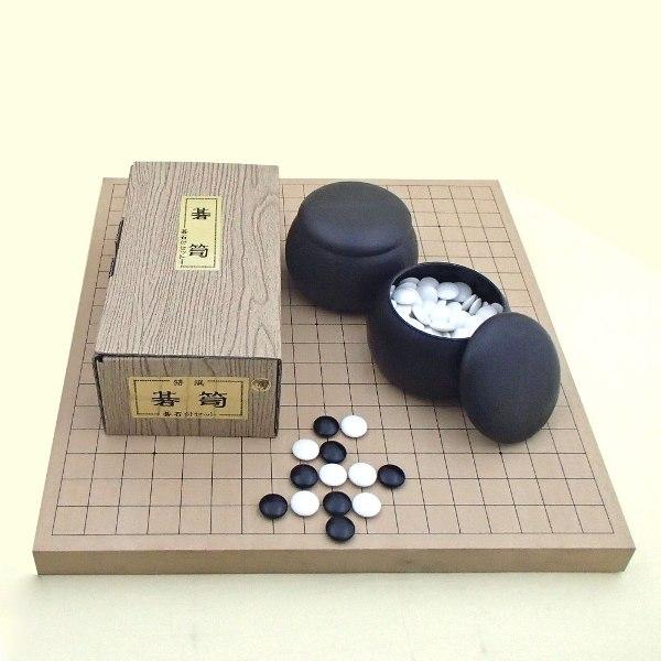 囲碁セット 新桂10号卓上接合碁盤セットとP碁笥碁石椿セット 送料無料対象商品
