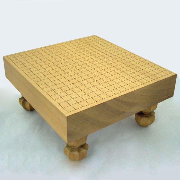 木製碁盤 新桂3寸足付碁盤 松