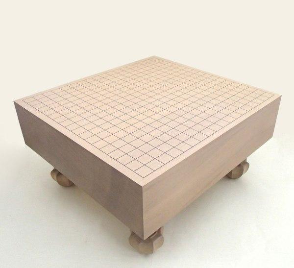 木製碁盤 新桂 4寸 足付碁盤 松