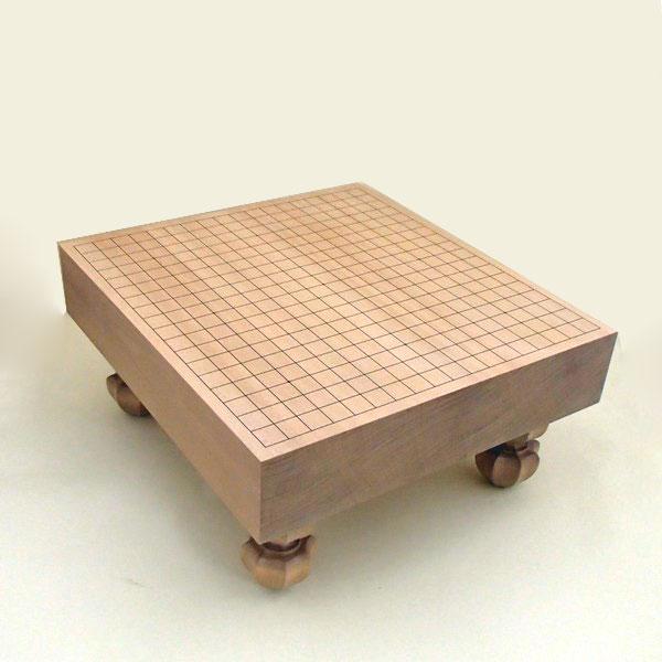 木製囲碁盤 新桂3寸足付一枚板碁盤 竹