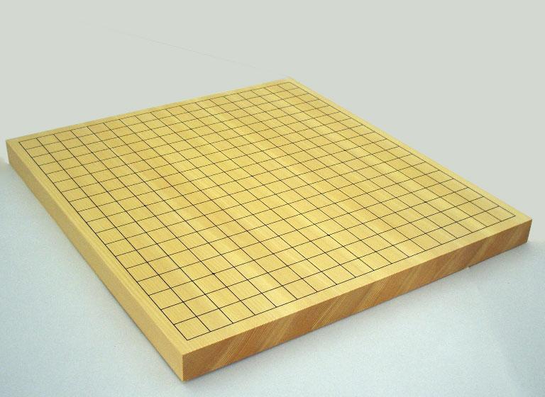 碁盤 新かや(スプルス)10号卓上接合碁盤 松
