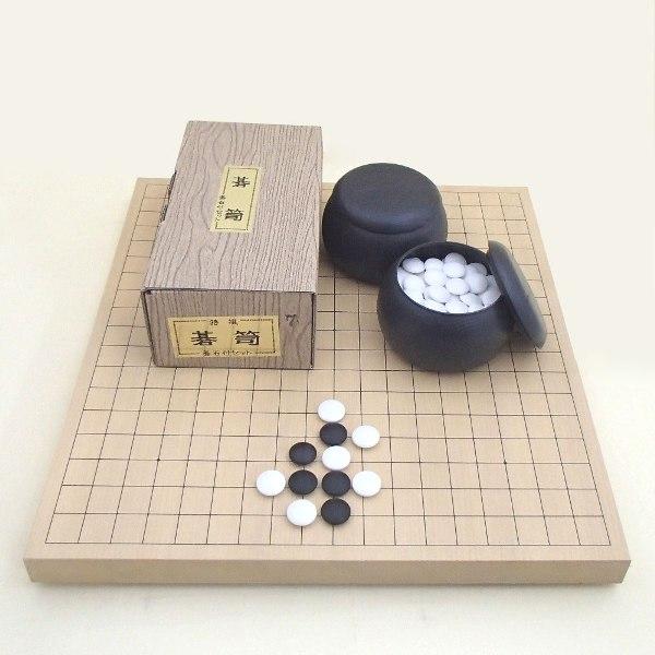 囲碁セット 新かや10号卓上接合碁盤と椿セット 送料無料対象商品