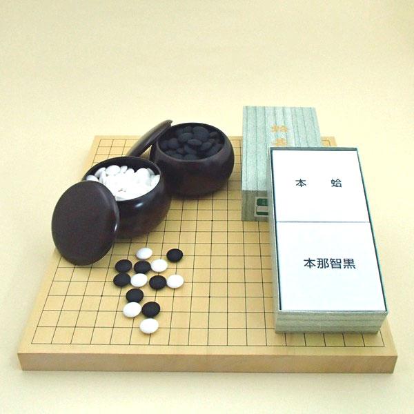囲碁盤セット 新かや10号卓上接合碁盤竹と蛤碁石実用31号(約8.4mm厚)とP碁笥銘木大