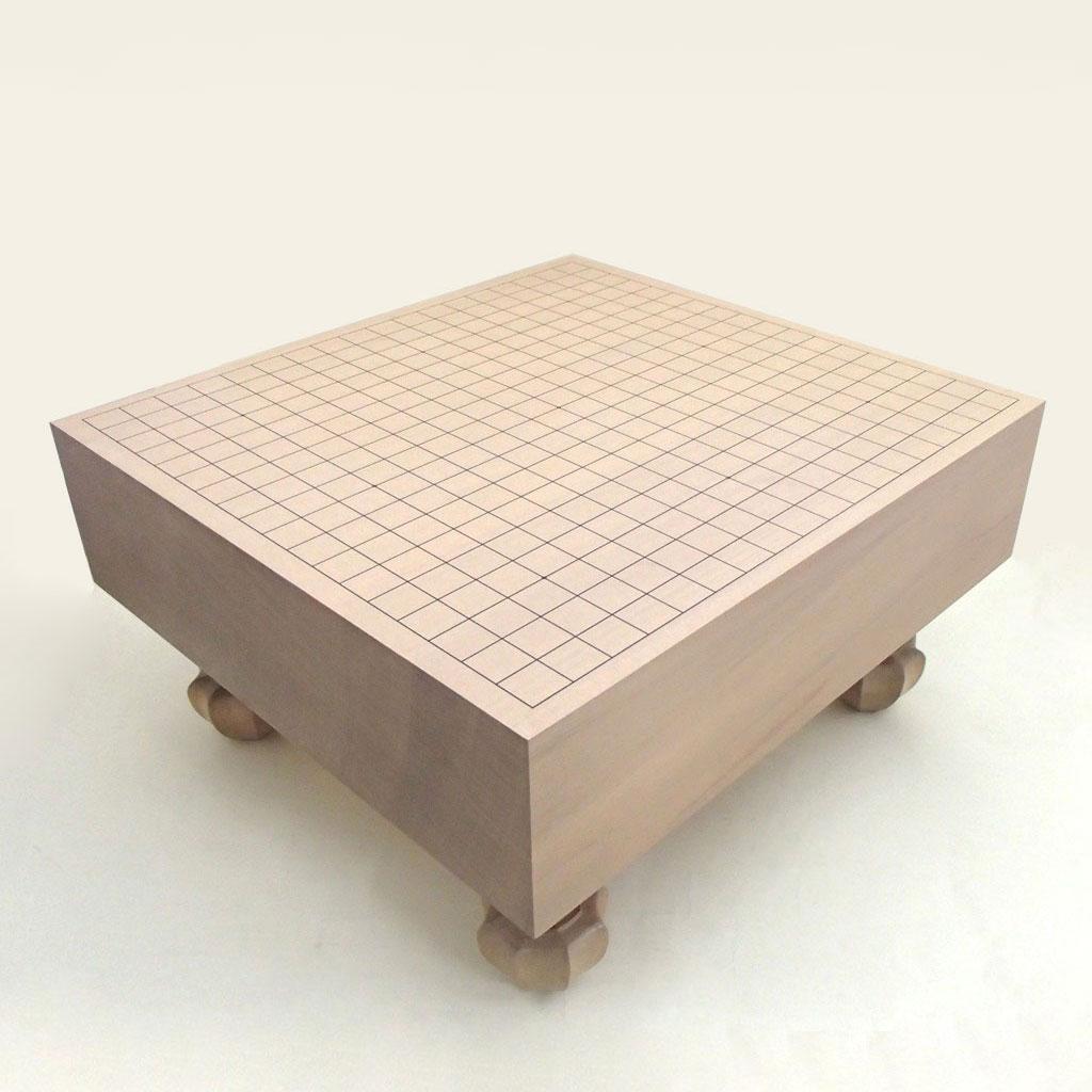 木製碁盤 新かや 4寸足付碁盤 松