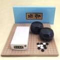 囲碁セット  新桂6号折碁盤と新生梅とP黒大碁笥