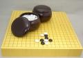 囲碁セット 新かや2寸卓上接合碁盤セット竹