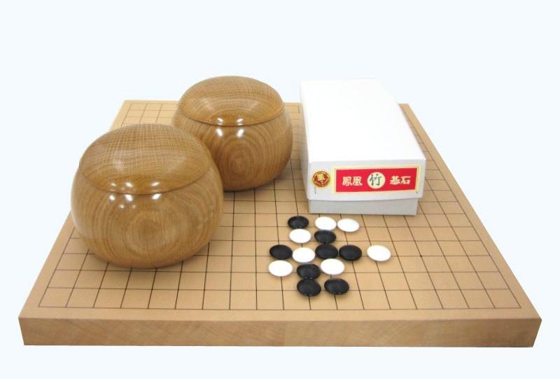 囲碁セット 新桂10号卓上接合碁盤セット松