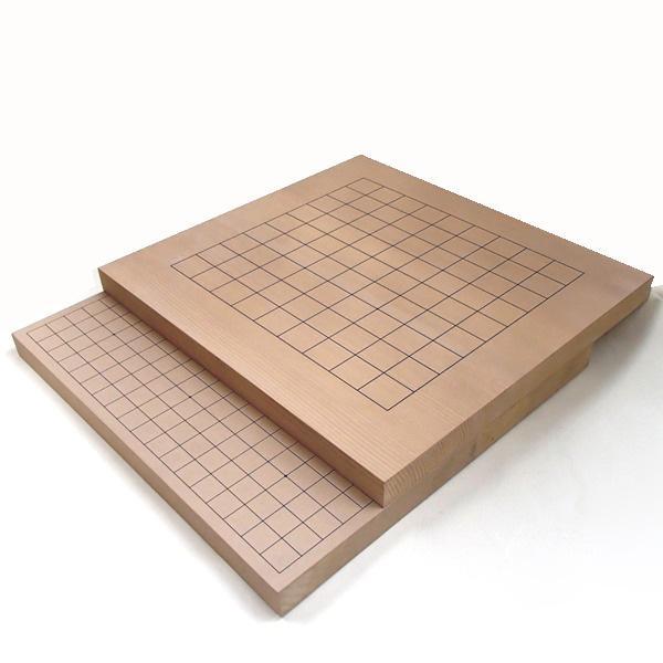 木製碁盤 新かや10号卓上囲碁・将棋両用盤