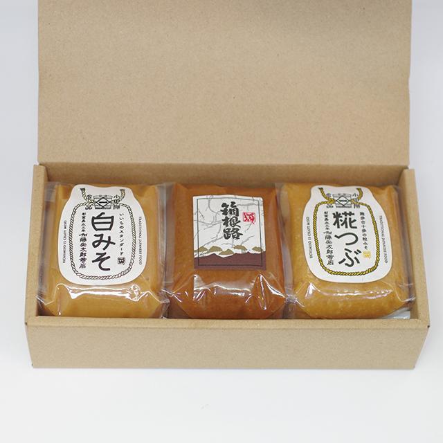 【ご贈答・お中元・お歳暮】味噌200g x 3(コードNo.2)