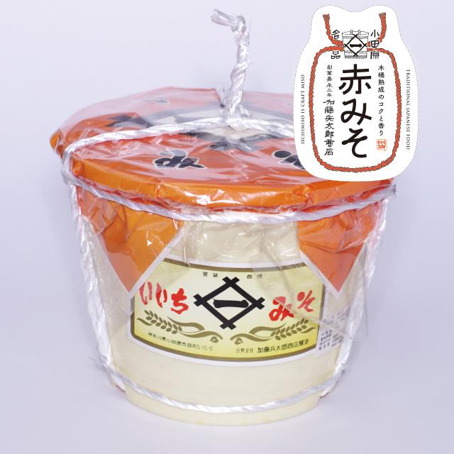 いいちみそ 赤みそ(4kg)<ポリ樽(縄かけ)>