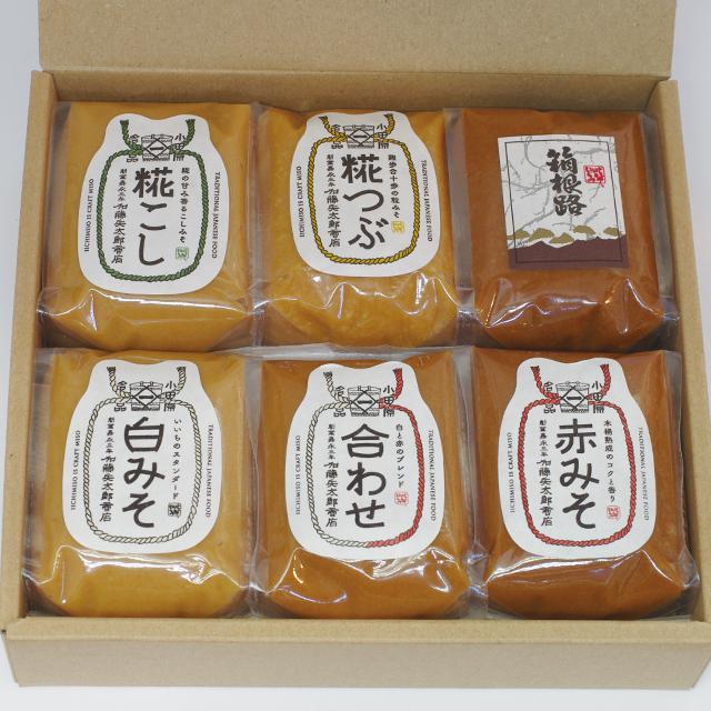 【ご贈答・お中元・お歳暮】味噌200g x 6(コードNo.1)