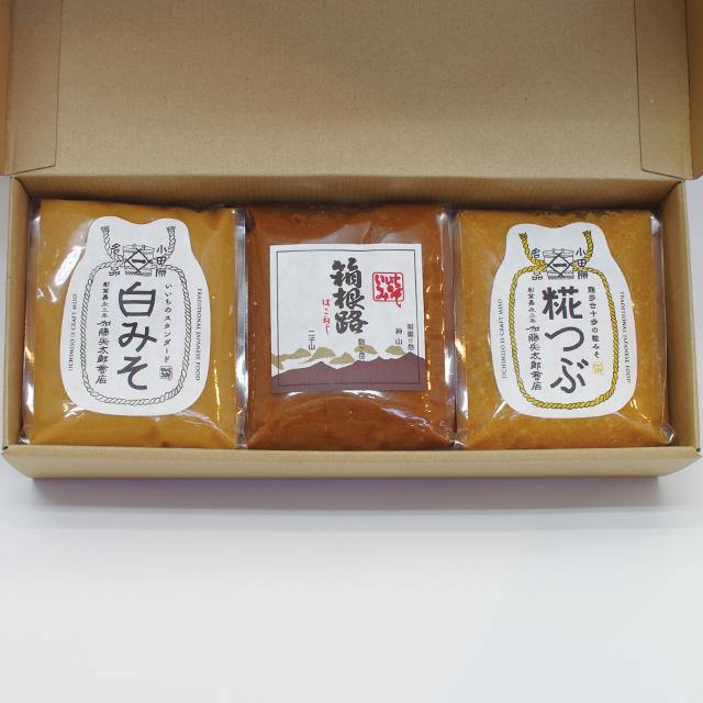 【ご贈答・お中元・お歳暮】味噌1kg x 3(コードNo.16)