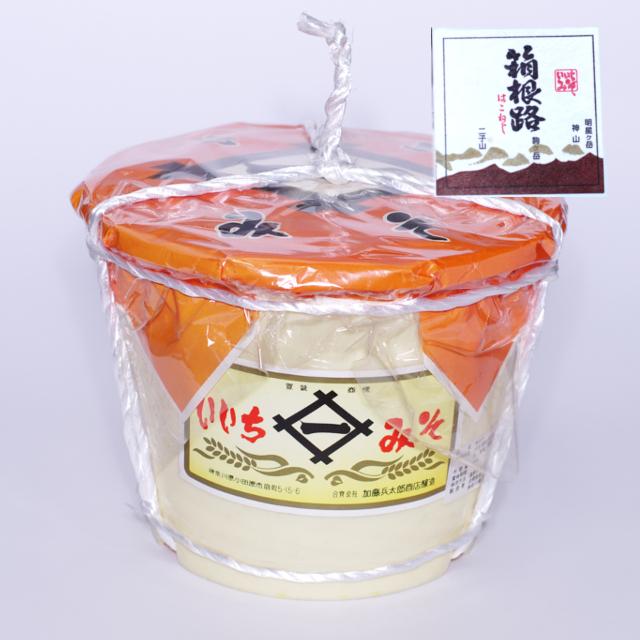 いいちみそ 箱根路(4kg)<ポリ樽(縄かけ)>