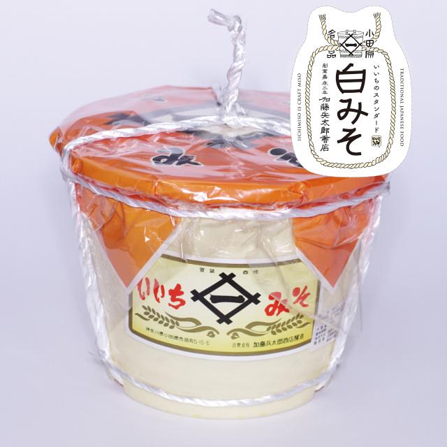 【当社人気No.1のお味噌】いいちみそ 白みそ(4kg)<ポリ樽(縄かけ)>