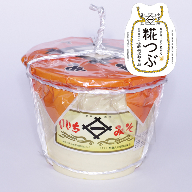 いいちみそ 糀つぶ(4kg)<ポリ樽(縄かけ)>