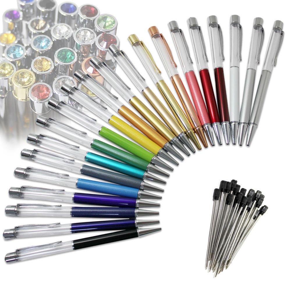 ハーバリウム ボールペン 本体 セット 手作り 21色セット 替芯21本付き ハーバリウムペン キット