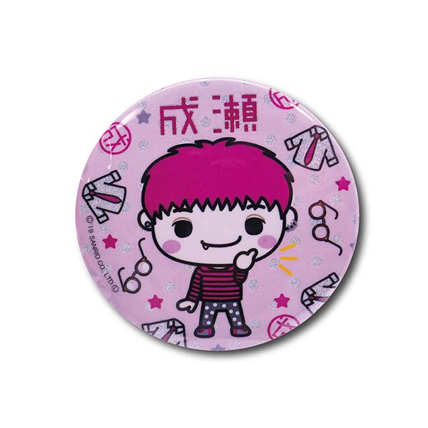 リレイズクリエイターズ Design produced by Sanrio キラキラ缶バッジ 成瀬 4580560325059