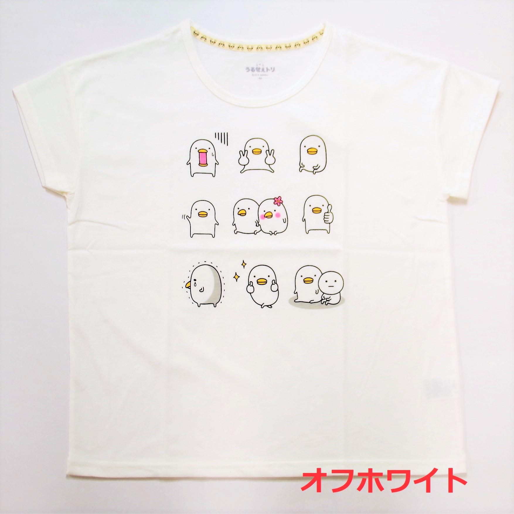 うるせぇトリ ドロップショルダープリントTシャツ