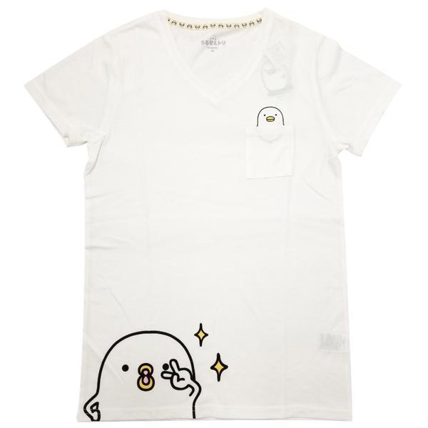 うるせぇトリ VネックプリントTシャツ(ポケット付き) 8283-1720