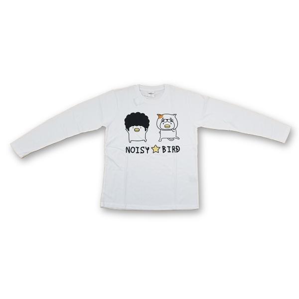 うるせぇトリ プリント長袖Tシャツ 8472-7440-1 NOISY★BIRD