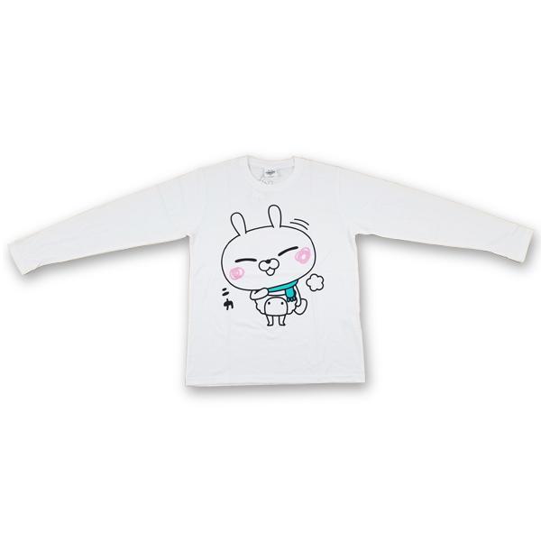ひとえうさぎ 長袖プリントTシャツ 8472-7490-1 ニカ