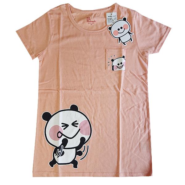 ぱんだっちプリントTシャツ 9283-4735 ポッケ付き