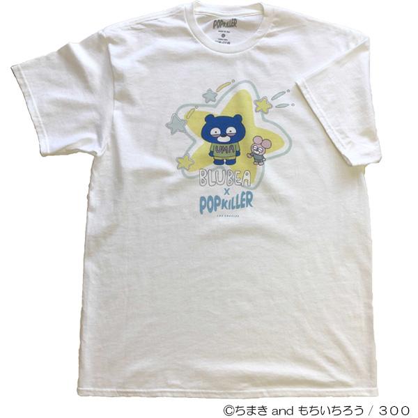 ブルベア×POPKILLERコラボTシャツ ホワイト