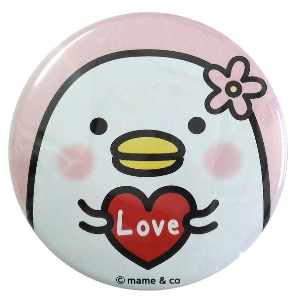 うるせぇトリ 缶バッジE Love 4573311747675