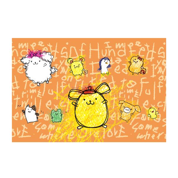 【POMPOMPURIN×Foomiy】 ポストカード D