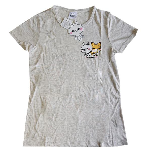 ひとえうさぎ 半袖プリントTシャツ 9283-4725 ウサギ&キツネ