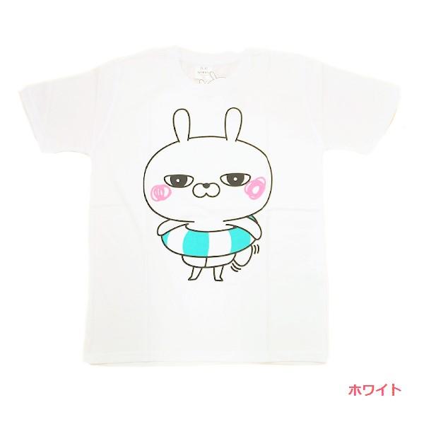 ひとえうさぎ 半袖プリントTシャツ(浮き輪) 8272-6493