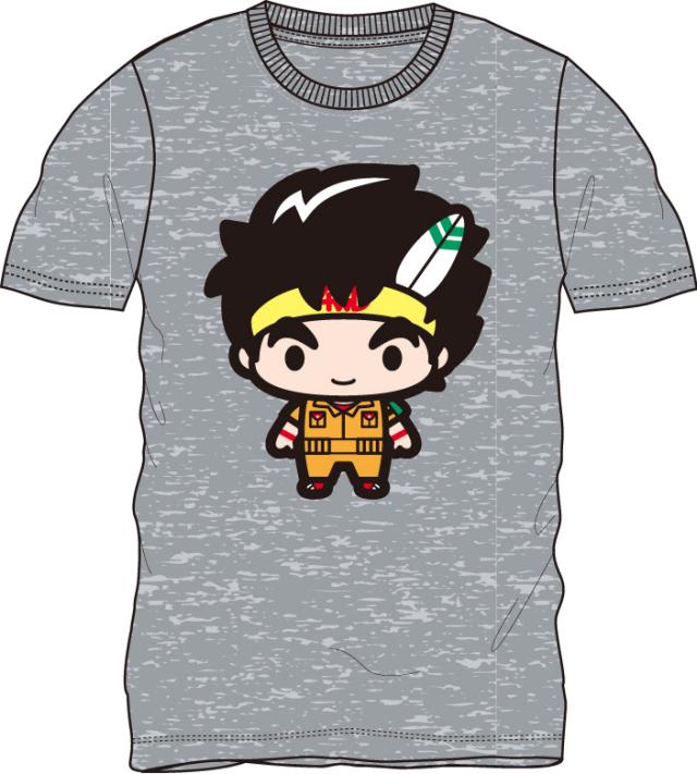 ダッシュ!四駆郎/日ノ丸四駆郎 半袖Tシャツ 杢グレー
