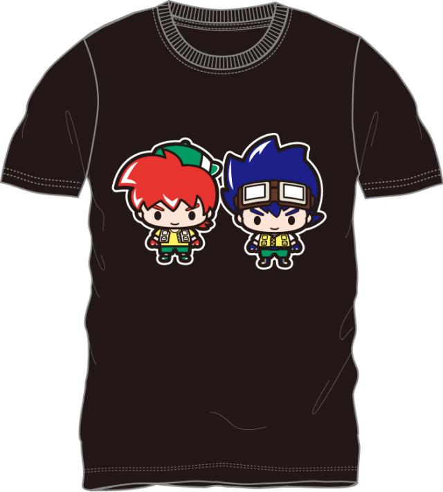 爆走兄弟レッツ&ゴー !!/星馬烈・星馬豪 半袖Tシャツ ブラック