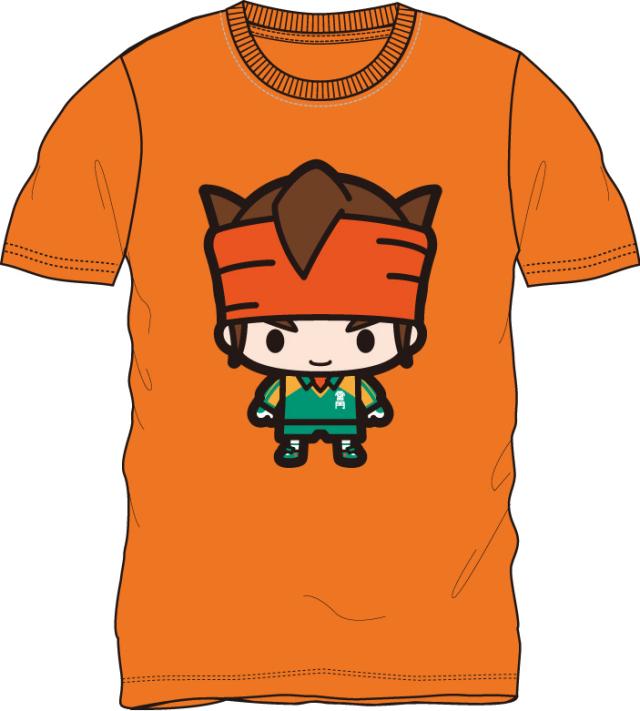 イナズマイレブン/円堂守 半袖Tシャツ オレンジ