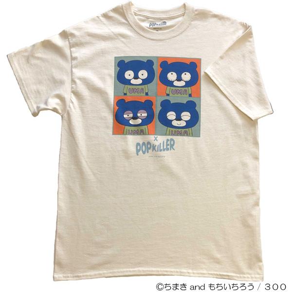 ブルベア×POPKILLERコラボTシャツ 生成り