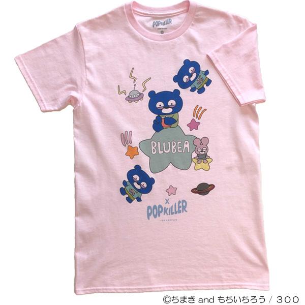 ブルベア×POPKILLERコラボTシャツ ピンク